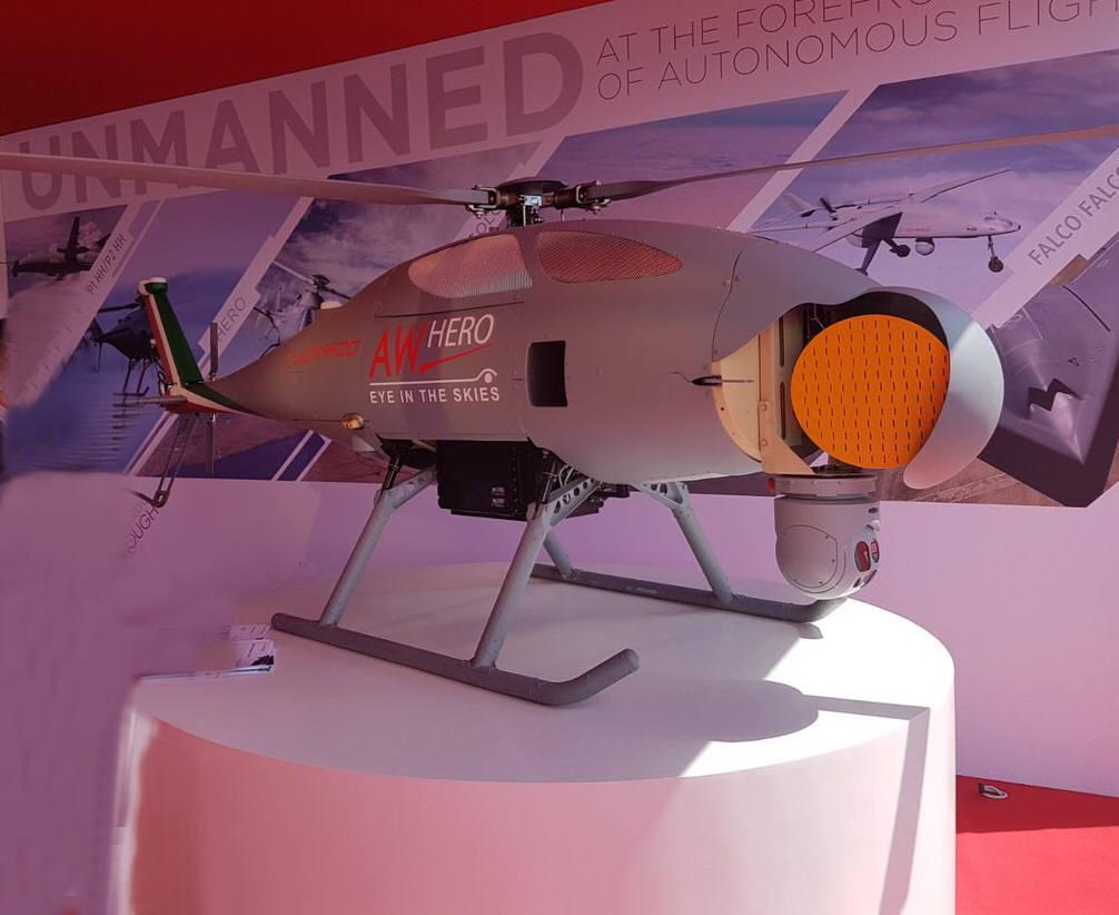 AW Hero elicottero controllo remoto di Leonardo
