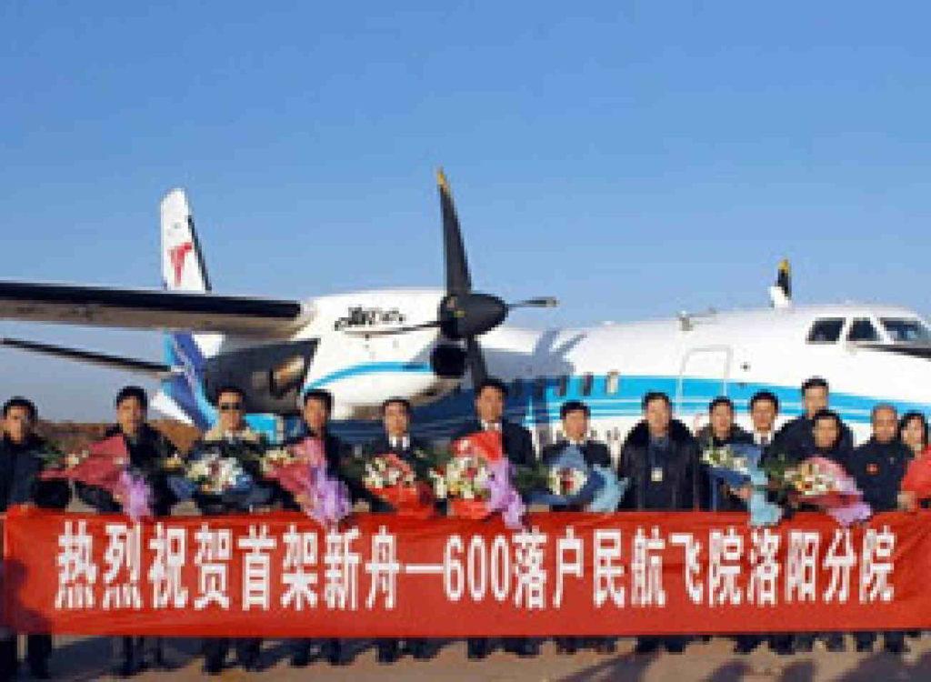 Tutboprop ATR, In Cina con un Atr42-600 con livrea cinese