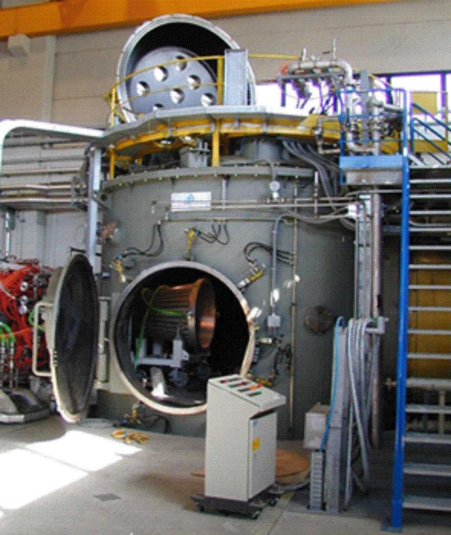 camera di prova del Plasma Wind Tunnel Scirocco