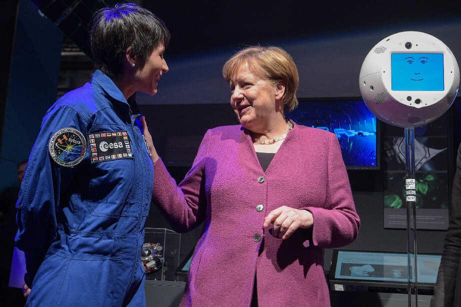 ILA Berlin 2018 Merkel Cristoforetti