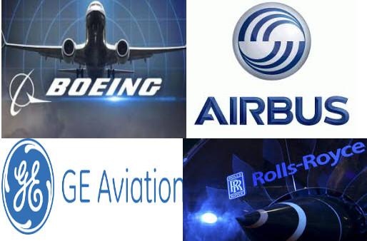 Boeing Airbus General Electric Rolls Royce